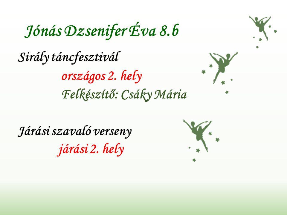 Gyurkovszky Szilárd 4.b Nemzetközi Diákolimpia / Judo megyei 1.
