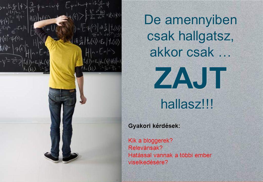 © Synovate 2010 12.00 8.70 5.48 4.63 8.24 5.73 5.27 10.7012.200.50 3.41 15 Gyakori kérdések: Kik a bloggerek.