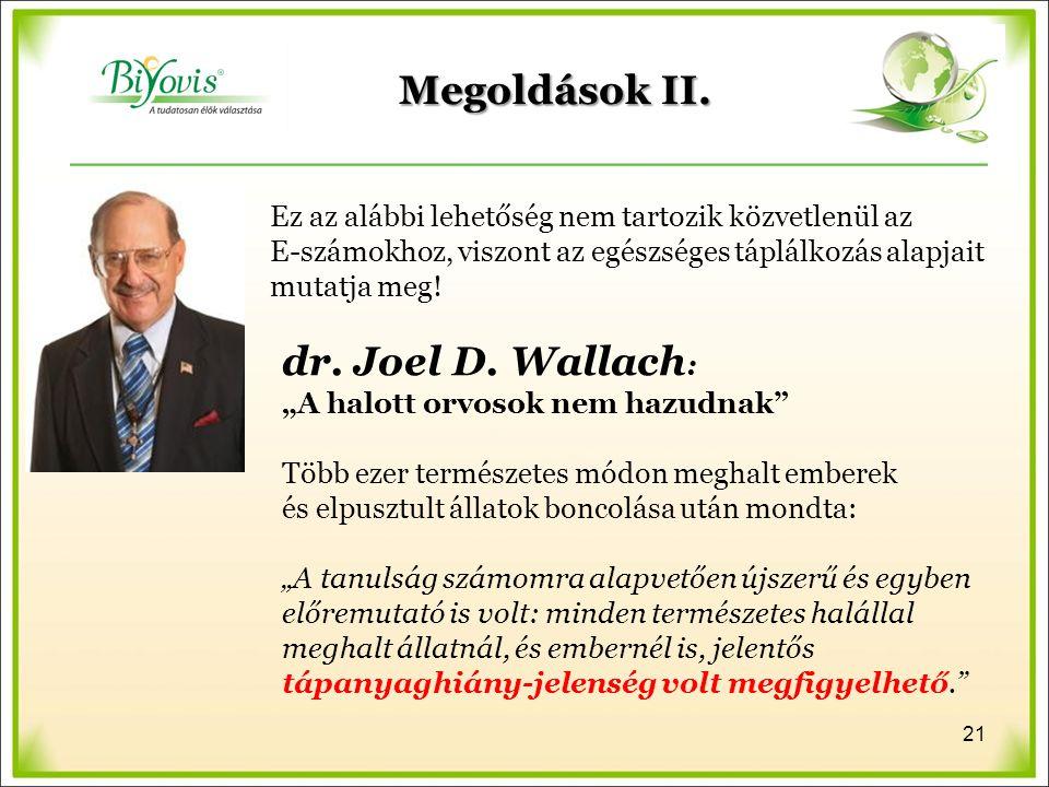 Megoldások II. dr. Joel D.