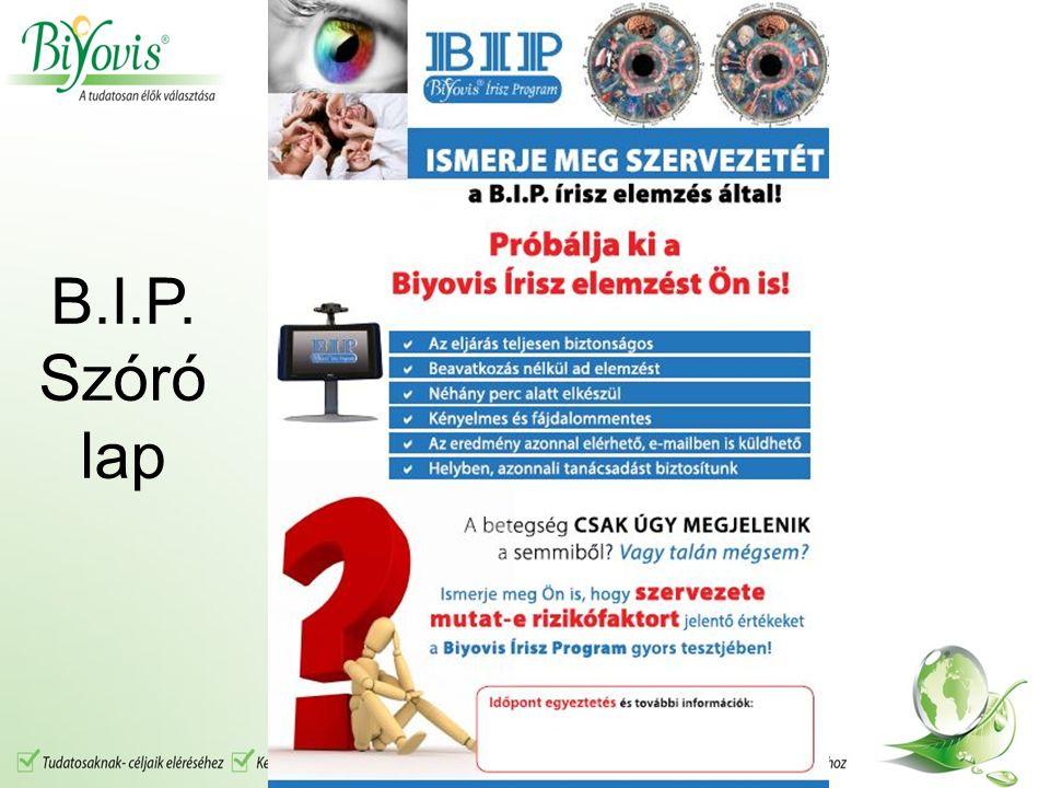 B.I.P. Szóró lap