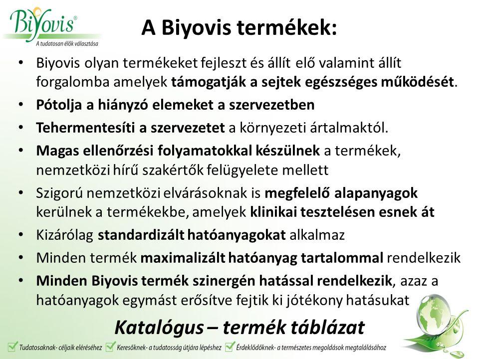 A Biyovis termékek: Biyovis olyan termékeket fejleszt és állít elő valamint állít forgalomba amelyek támogatják a sejtek egészséges működését. Pótolja