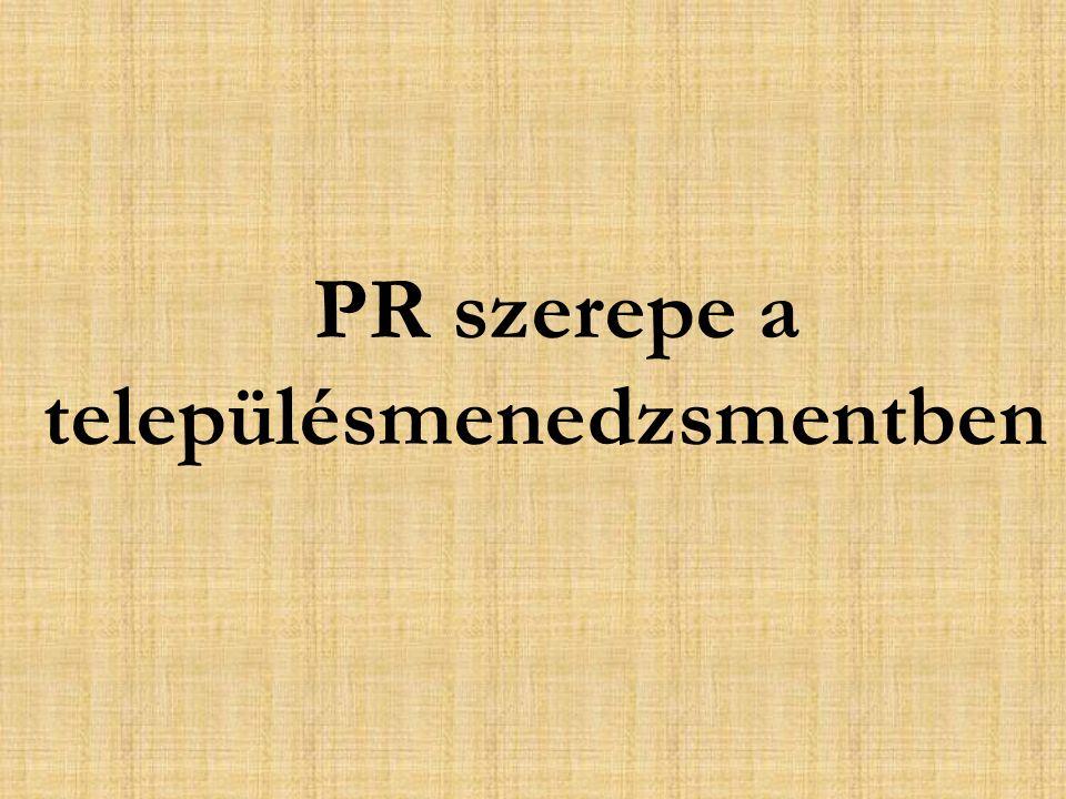 PR szerepe a településmenedzsmentben