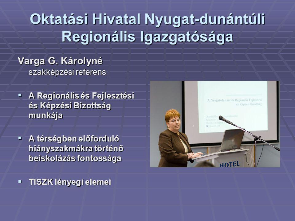 Oktatási Hivatal Nyugat-dunántúli Regionális Igazgatósága Varga G.