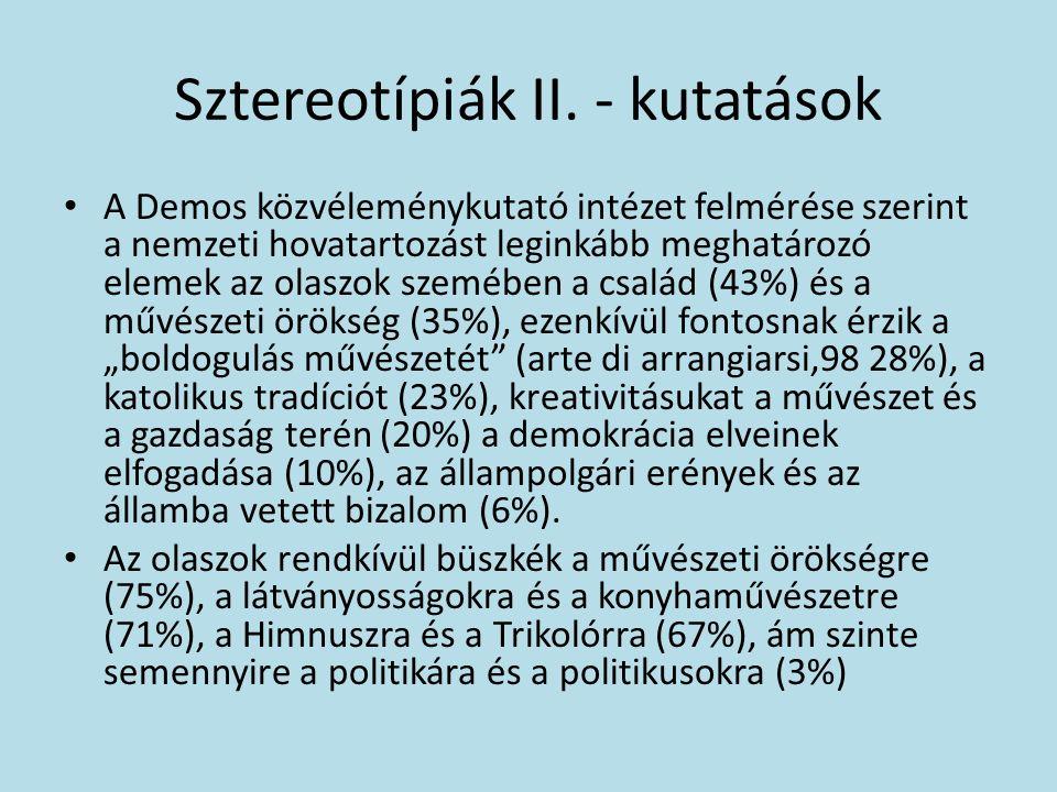 Sztereotípiák II.