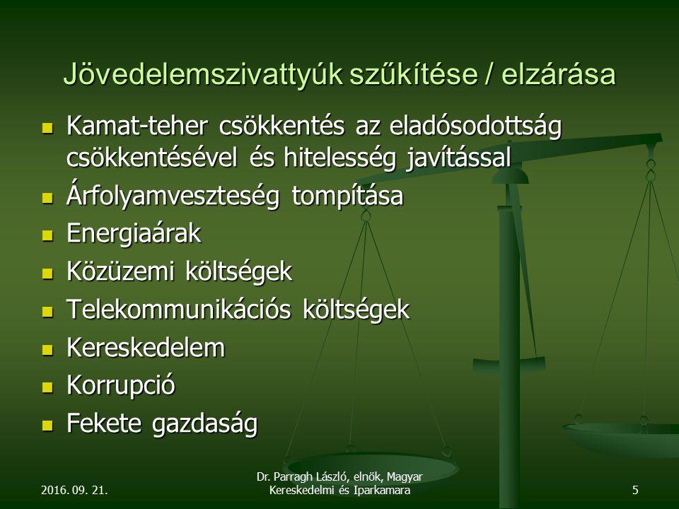 2016. 09. 21. Dr. Parragh László, elnök, Magyar Kereskedelmi és Iparkamara6