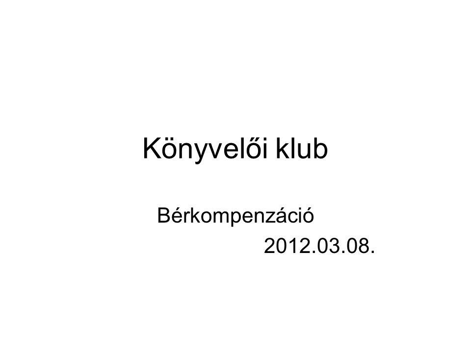 Könyvelői klub Bérkompenzáció 2012.03.08.