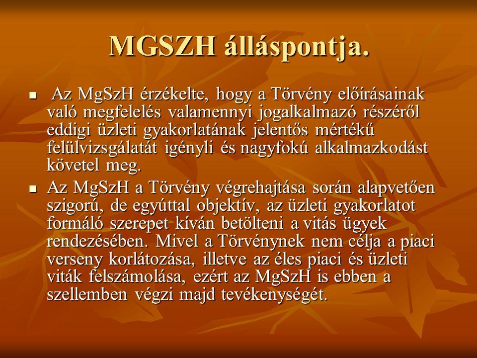 MGSZH álláspontja.