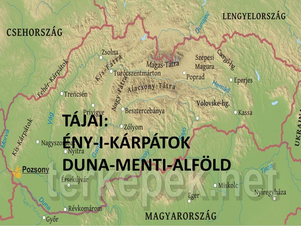 TÁJAI: ÉNY-I-KÁRPÁTOK DUNA-MENTI-ALFÖLD