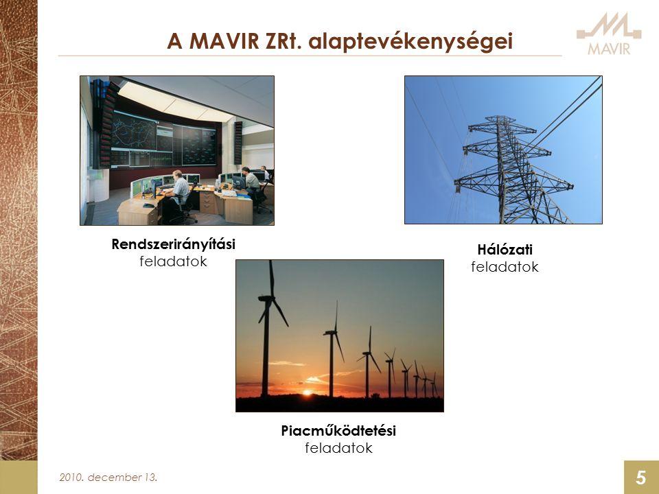 2010. december 13. 5 A MAVIR ZRt.