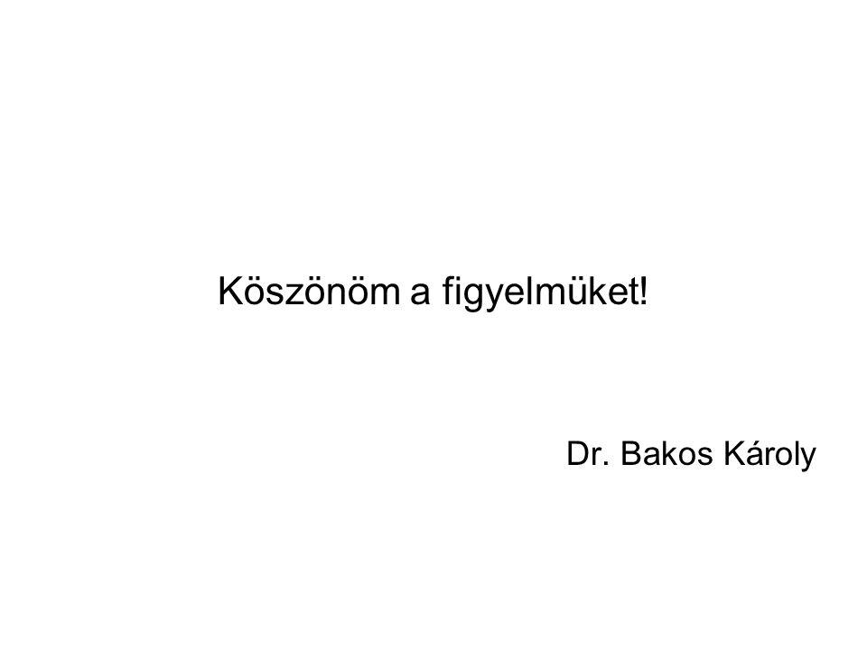 Köszönöm a figyelmüket! Dr. Bakos Károly