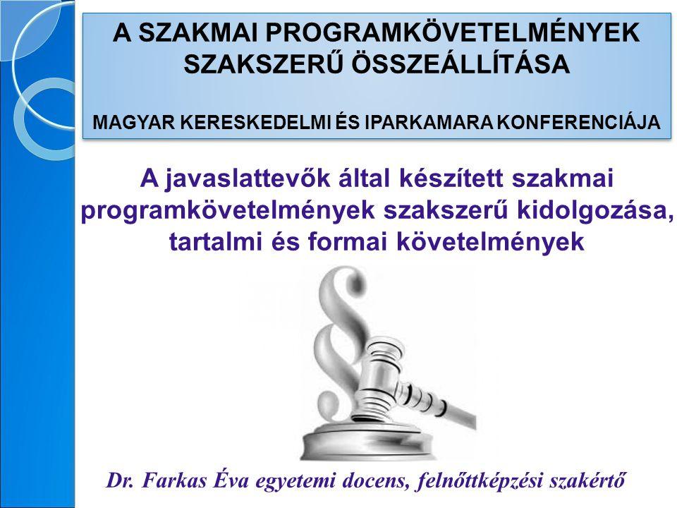 A TÉMA RELEVANCIÁJA 1.A szakmai programkövetelmény javaslat 2013.