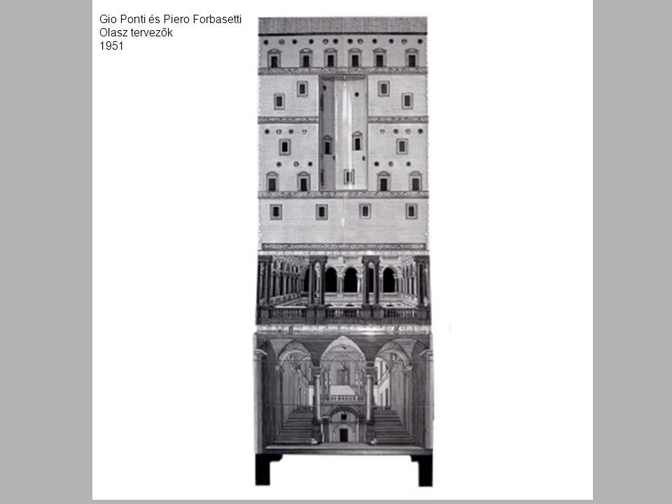 Gio Ponti és Piero Forbasetti Olasz tervezők 1951