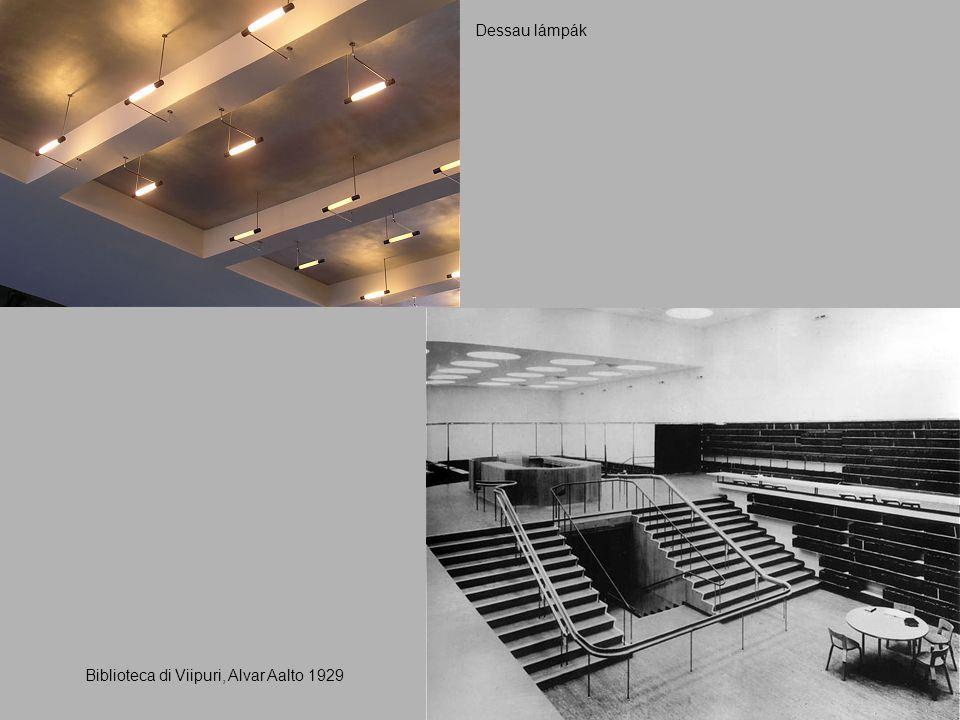 Biblioteca di Viipuri, Alvar Aalto 1929 Dessau lámpák