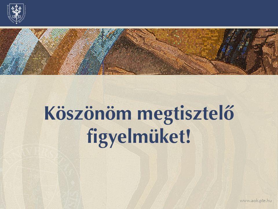 www.aok.pte.hu Köszönöm megtisztelő figyelmüket!
