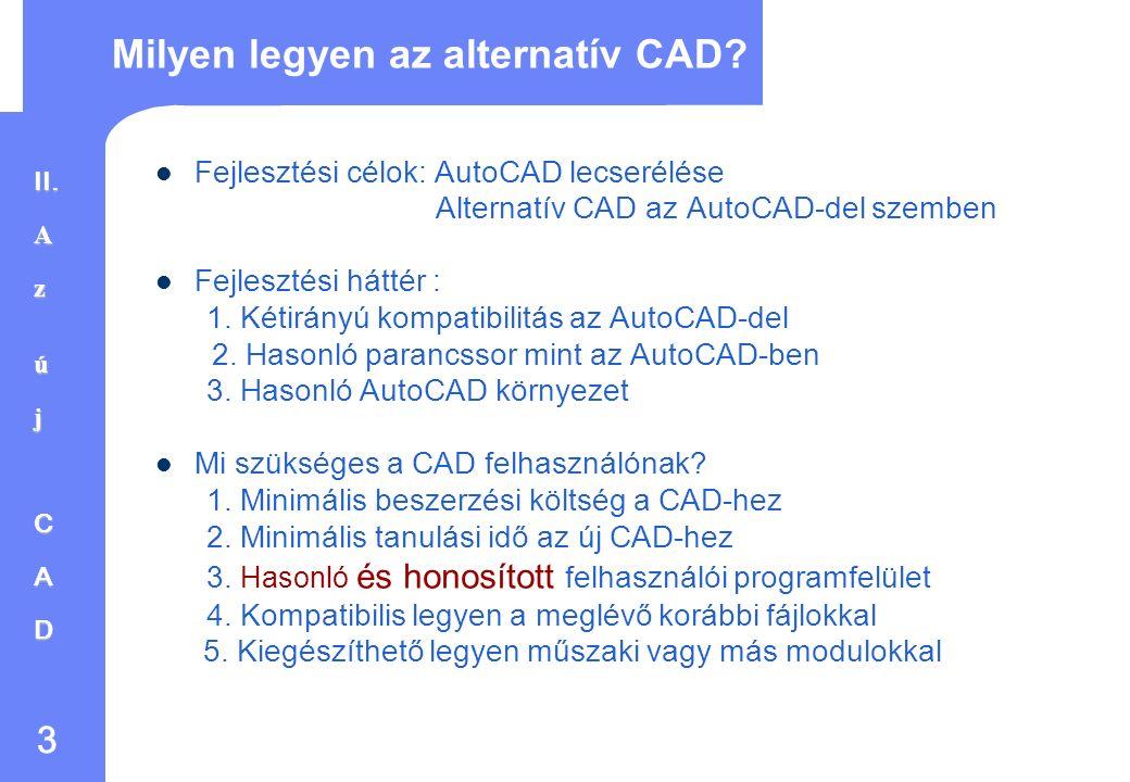2 Kritika az AutoCAD-del kapcsolatban Frissítési politika - Minden évben új verziót adnak ki - Költséges kampányolás a kötelező új verzióra.