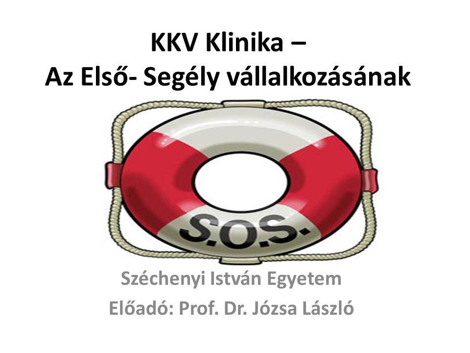 KKV Klinika – Az Első- Segély vállalkozásának Széchenyi István Egyetem Előadó: Prof.
