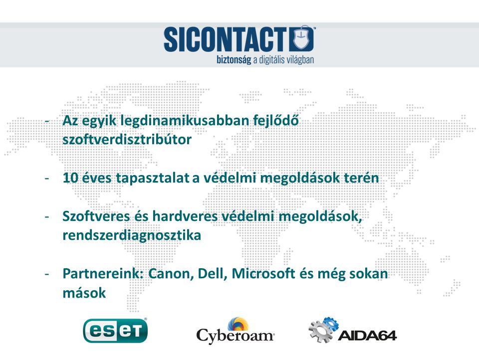 -Az egyik legdinamikusabban fejlődő szoftverdisztribútor -10 éves tapasztalat a védelmi megoldások terén -Szoftveres és hardveres védelmi megoldások,