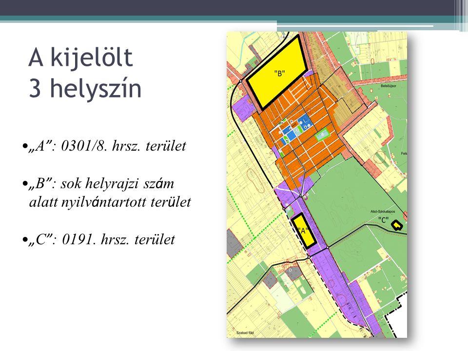 Az ipari parkba betelepülni szándékozó vállalkozás Tevékenysége Foglalkoztatottak száma betelepüléskor (fő) 5 év múlva (fő) Tevékenységéhez szükséges terület igénye betelepüléskor (m2) 5 év múlva (m2 ) Raktár területigénye betelepüléskor (m2) 5 év múlva ( m2) Iroda területigénye (m2) Szociális helyiségek területigénye (m2) Közlekedési-infrastruktúra közelsége Közút autópálya közelségefontosközepesen fontosnem fontos főút közelségefontosközepesen fontosnem fontos Vasút közelségefontosközepesen fontosnem fontos Repülőtér közelségefontosközepesen fontosnem fontos Közmű-infrastruktúra szükséglete Elektromos energia szükséglet teljesítmény (kVA) feszültség (kV) Vízszükségletvíznyomás szükséglet (bar) Szennyvízelvezetésszükségesnem szükséges Gázszükséglet gáznyomás szükséglet (bar) Hírközlés telefonvonalfontosközepesen fontosnem fontos internet hálózatfontosközepesen fontosnem fontos KÉRDŐÍVKÉRDŐÍV