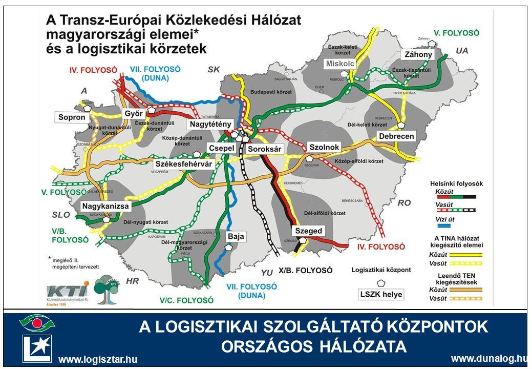 A LOGISZTIKAI SZOLGÁLTATÓ KÖZPONTOK ORSZÁGOS HÁLÓZATA www.logisztar.hu www.dunalog.hu