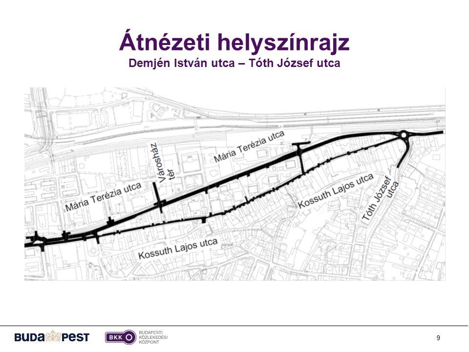 Átnézeti helyszínrajz Demjén István utca – Tóth József utca 9