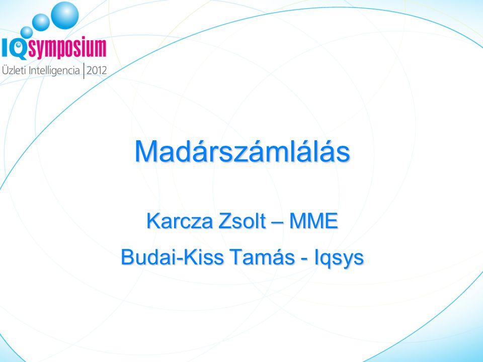 Madárszámlálás Karcza Zsolt – MME Budai-Kiss Tamás - Iqsys