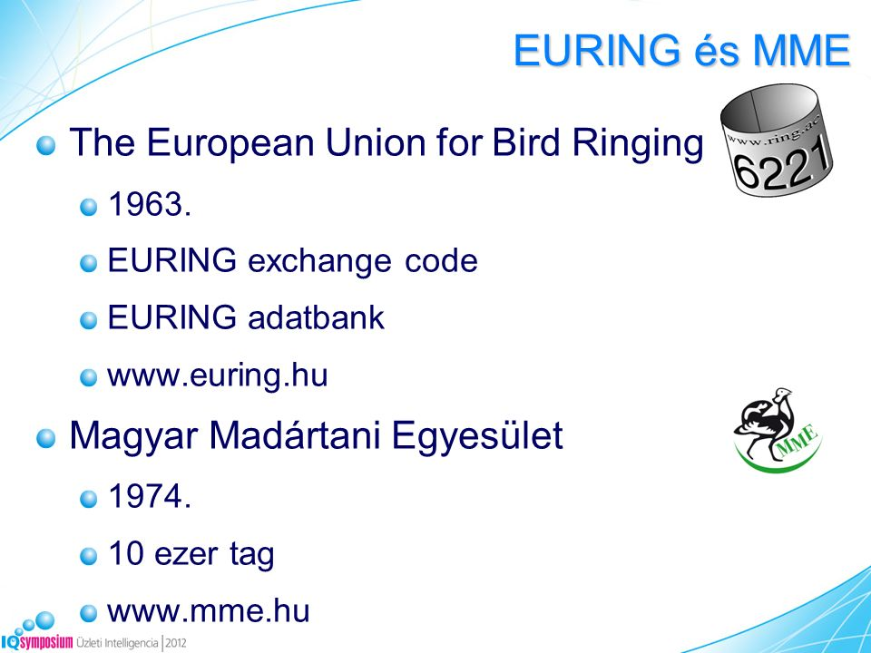 The European Union for Bird Ringing 1963.