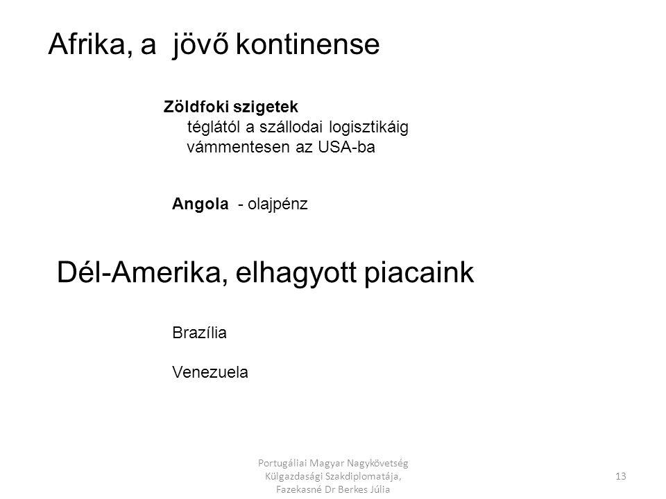 Brasil Portugal Angola Mozambique Cabo Verde USA Bissau Guinea Portugália kapu Afrika és Amerika felé 12 Portugáliai Magyar Nagykövetség Külgazdasági Szakdiplomatája, Fazekasné Dr Berkes Júlia