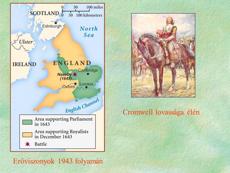 Erőviszonyok 1943 folyamán Cromwell lovassága élén