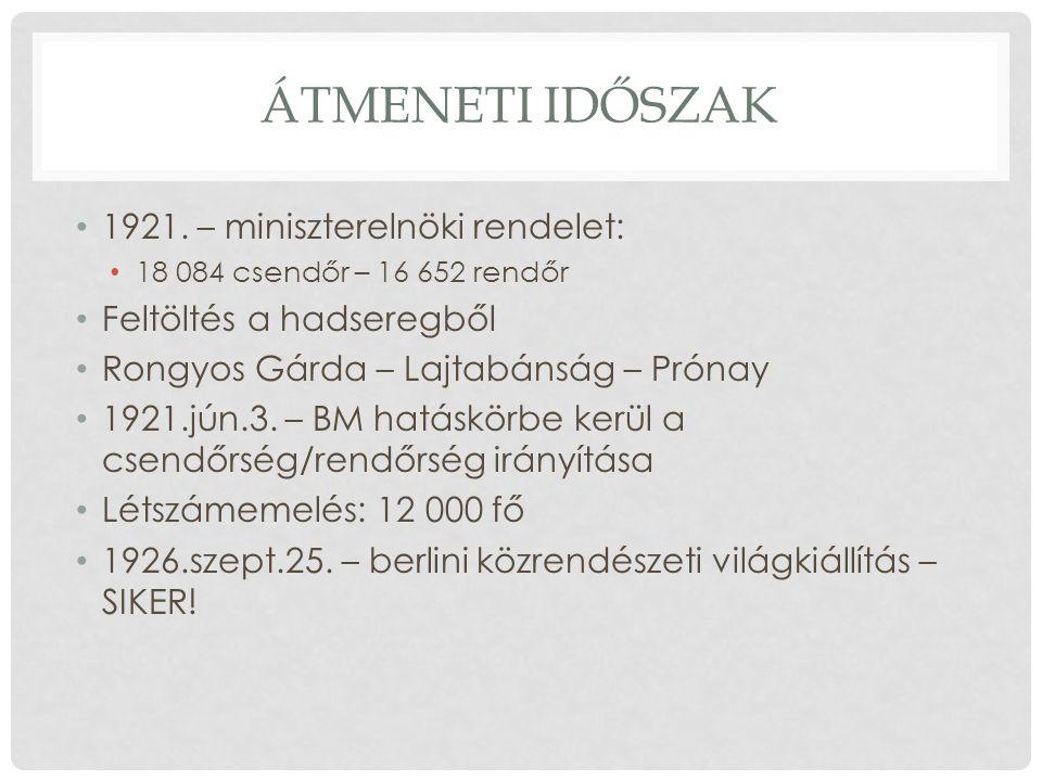 ÁTMENETI IDŐSZAK 1921.