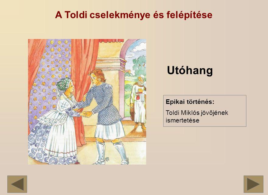 A Toldi cselekménye és felépítése Utóhang Epikai történés: Toldi Miklós jövőjének ismertetése