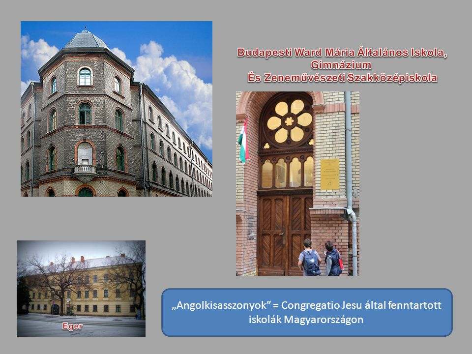 """""""Angolkisasszonyok = Congregatio Jesu által fenntartott iskolák Magyarországon"""
