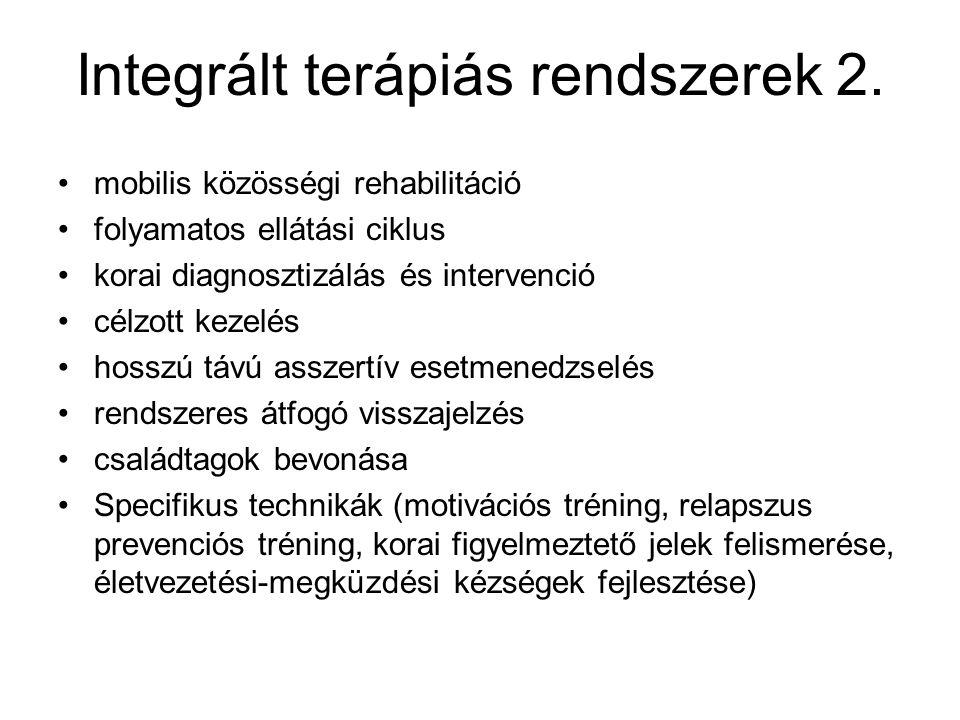 Integrált terápiás rendszerek 2.