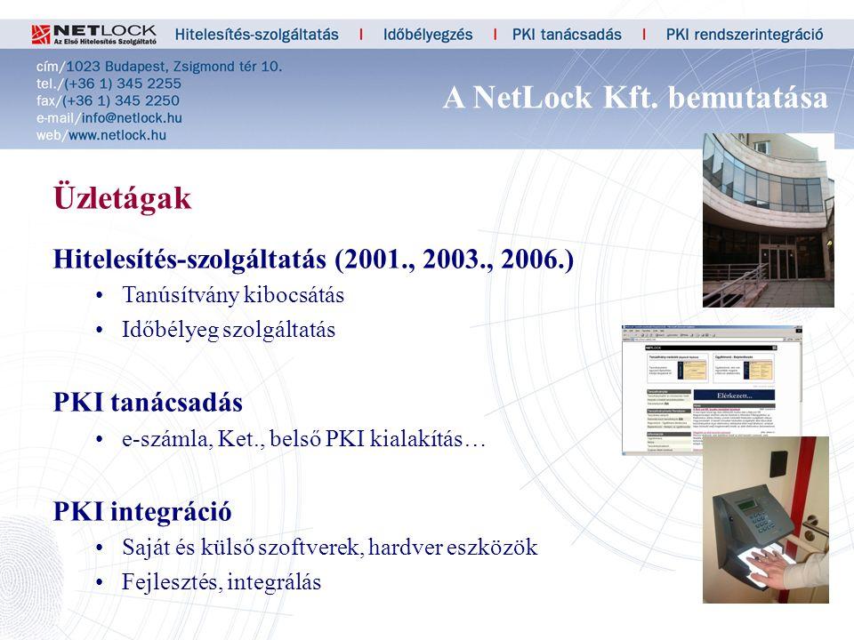 4 Üzletágak Hitelesítés-szolgáltatás (2001., 2003., 2006.) Tanúsítvány kibocsátás Időbélyeg szolgáltatás PKI tanácsadás e-számla, Ket., belső PKI kialakítás… PKI integráció Saját és külső szoftverek, hardver eszközök Fejlesztés, integrálás