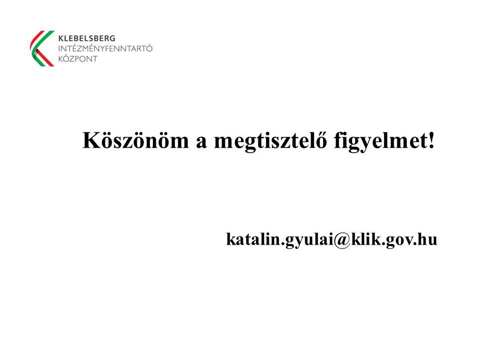 Köszönöm a megtisztelő figyelmet! katalin.gyulai@klik.gov.hu