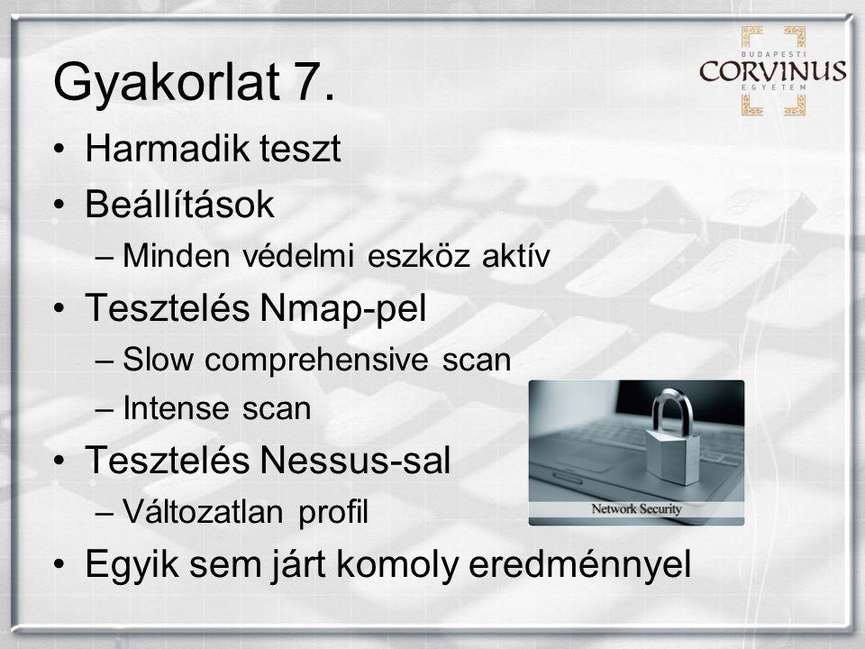 Gyakorlat 7.