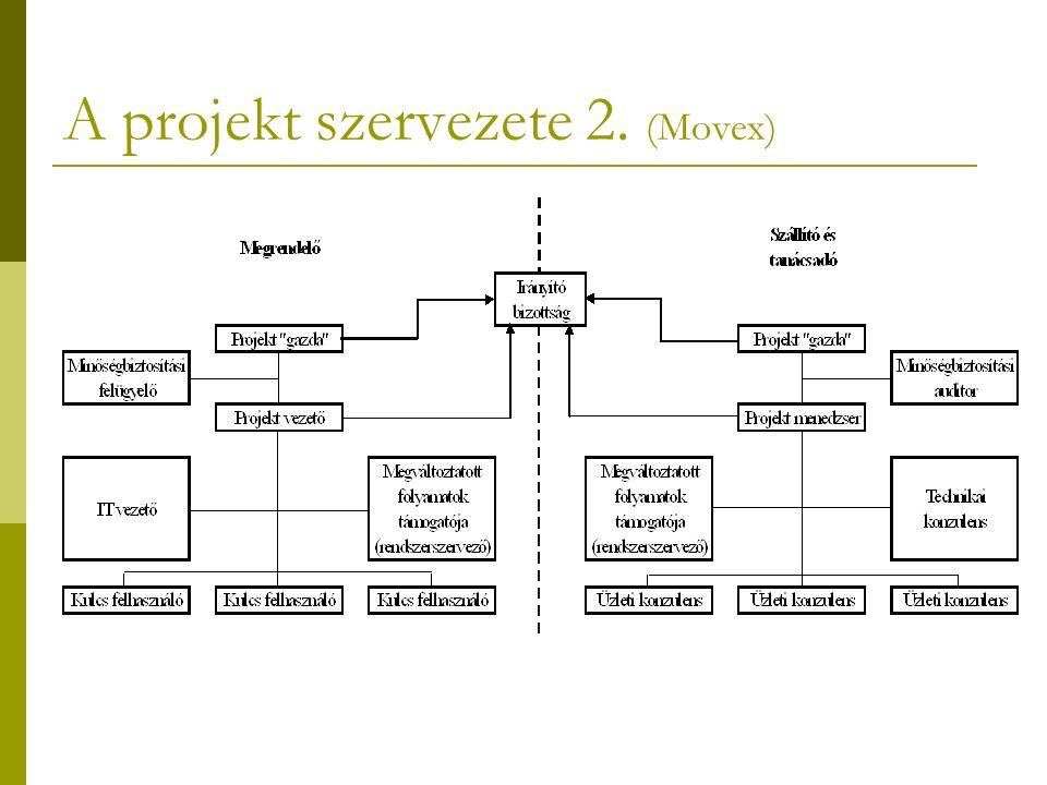 A projekt szervezete 2. (Movex)
