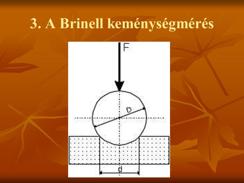 3. A Brinell keménységmérés