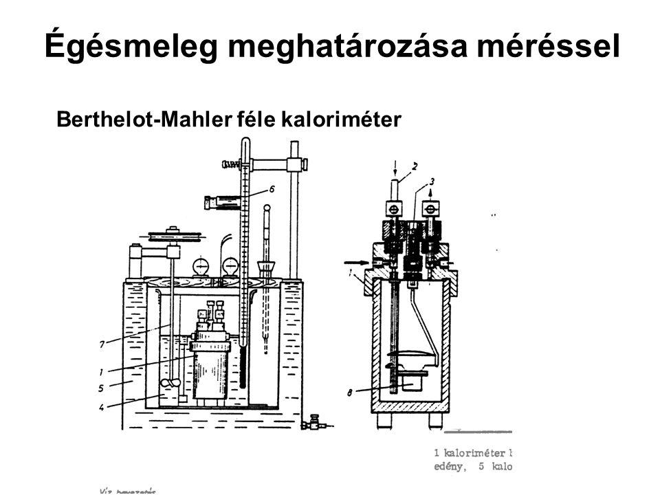Égésmeleg meghatározása méréssel Berthelot-Mahler féle kaloriméter