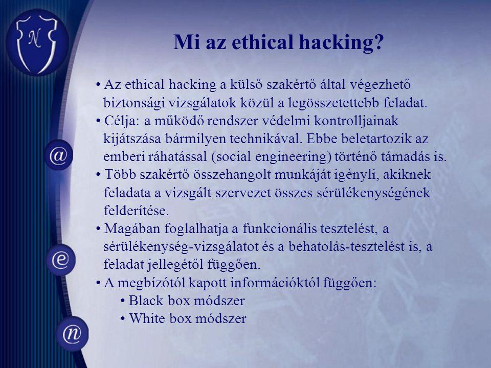 Mi az ethical hacking.