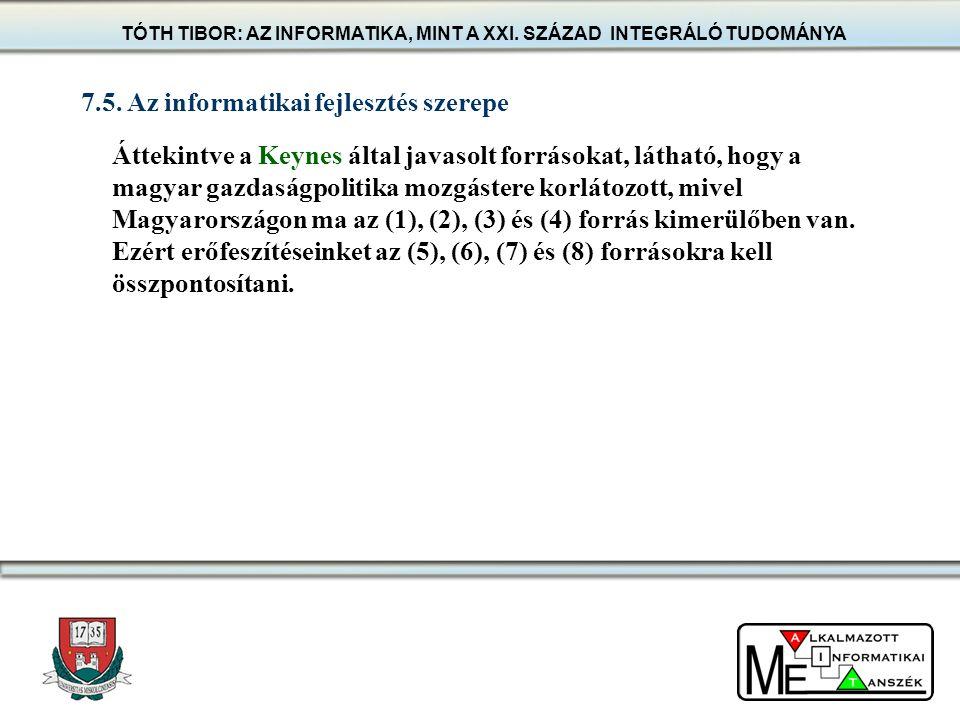Áttekintve a Keynes által javasolt forrásokat, látható, hogy a magyar gazdaságpolitika mozgástere korlátozott, mivel Magyarországon ma az (1), (2), (3