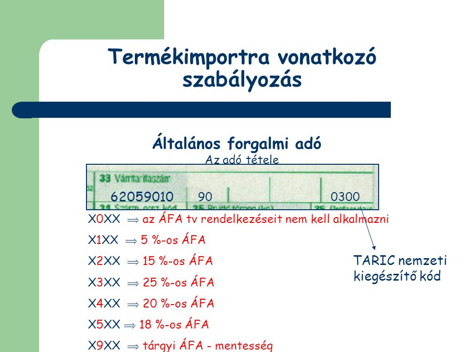 Nem közösségi adók és díjak Általános forgalmi adó Adómentességek 93.
