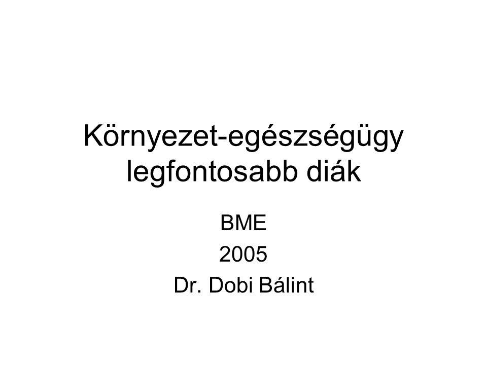 Környezet-egészségügy legfontosabb diák BME 2005 Dr. Dobi Bálint