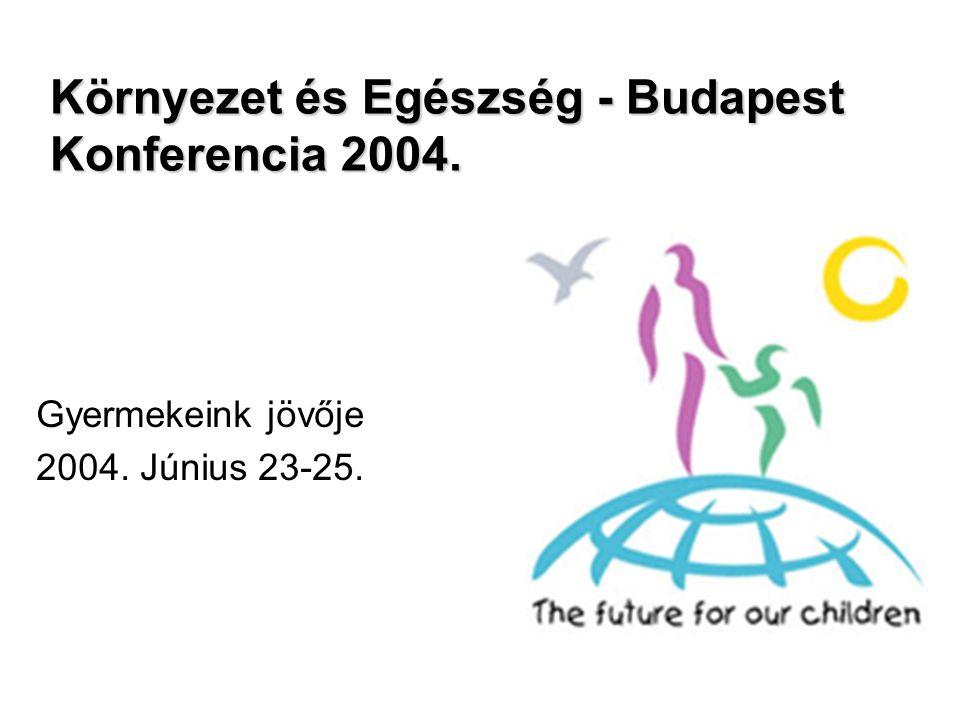 Környezet és Egészség - Budapest Konferencia 2004. Gyermekeink jövője 2004. Június 23-25.