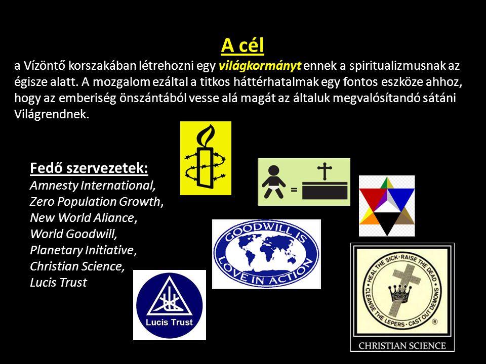 A cél a Vízöntő korszakában létrehozni egy világkormányt ennek a spiritualizmusnak az égisze alatt. A mozgalom ezáltal a titkos háttérhatalmak egy fon