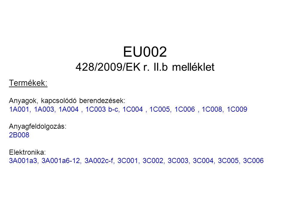 EU002 428/2009/EK r.