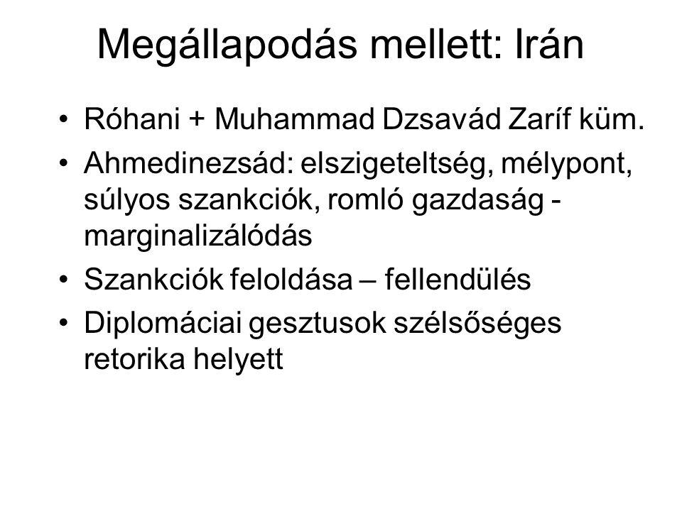 Megállapodás mellett: Irán Róhani + Muhammad Dzsavád Zaríf küm.
