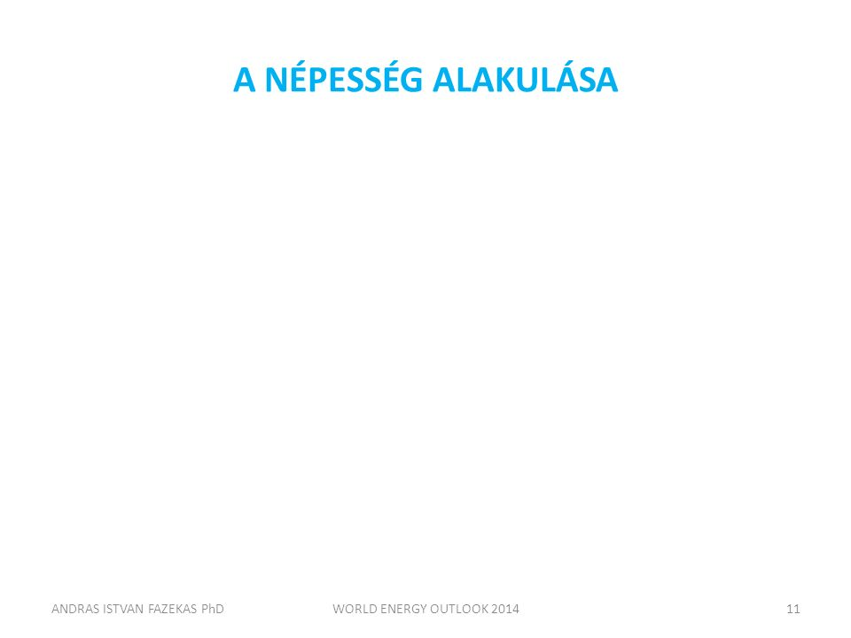 A NÉPESSÉG ALAKULÁSA ANDRAS ISTVAN FAZEKAS PhDWORLD ENERGY OUTLOOK 201411