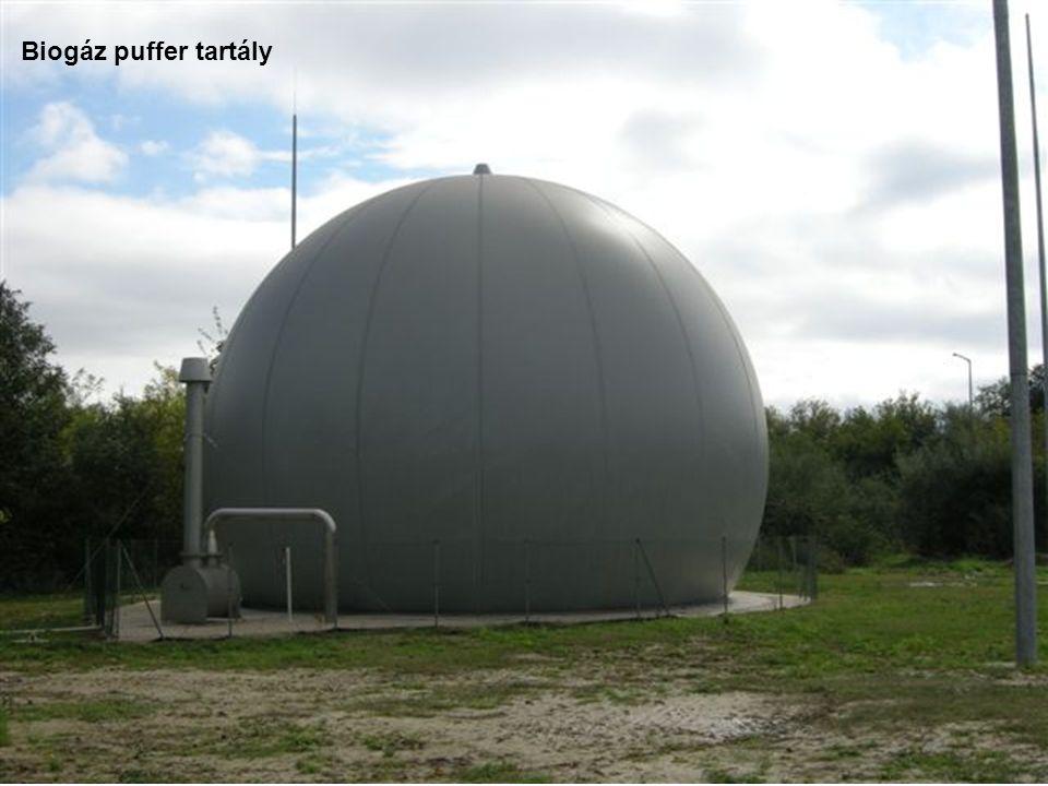 Biogáz puffer tartály