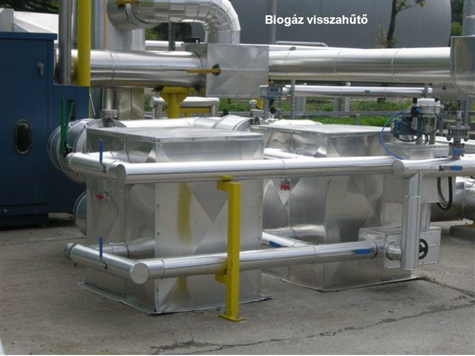 Biogáz visszahűtő