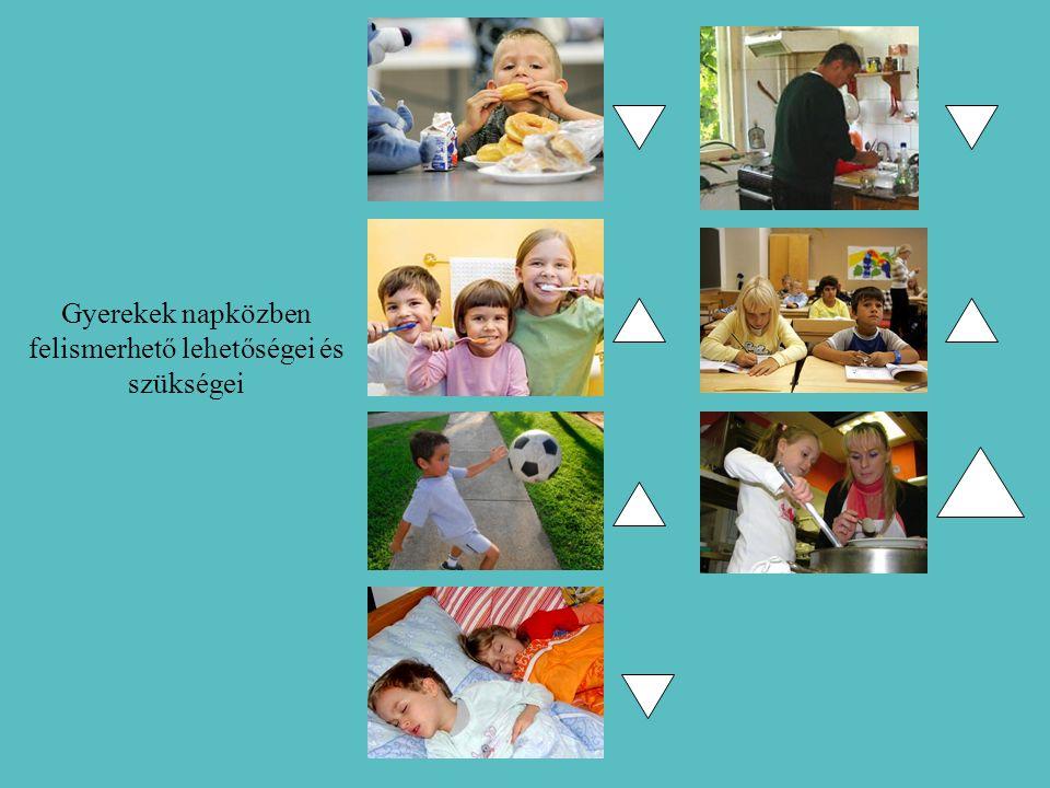 Gyerekek napközben felismerhető lehetőségei és szükségei